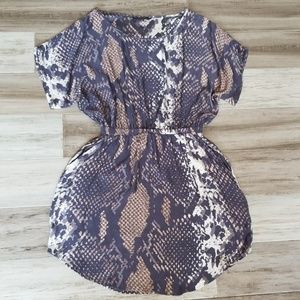 Express Snakeskin Print Dress